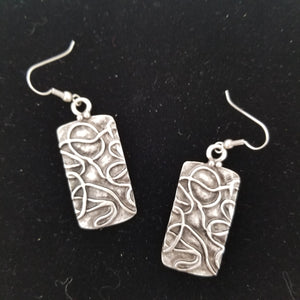 Tonga Handcrafted Silver Earrings