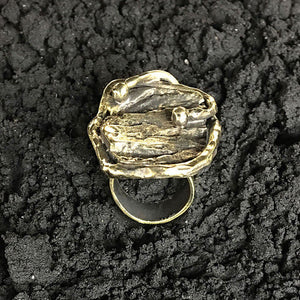 Buhar Handcrafted Bronze Ring