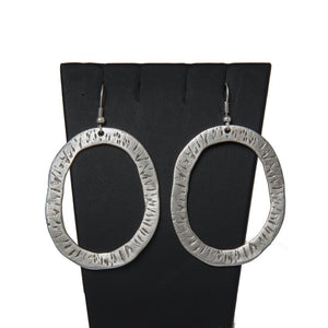 Tuvan Handcrafted Silver Earrings