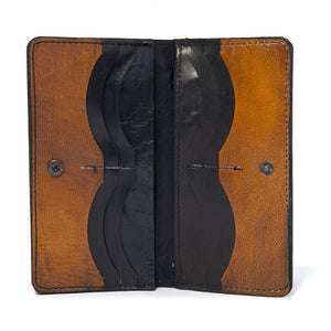 Steampunk Leather Wallet Chestnut