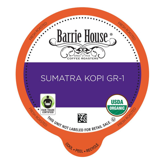 Barrie House FTO Sumatra Kopi Single Serve Capsules 24 ct.