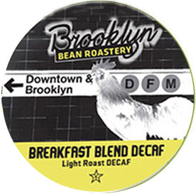 Brooklyn Bean Decaf Breakfast Blend Single Serve Capsules 24 ct.