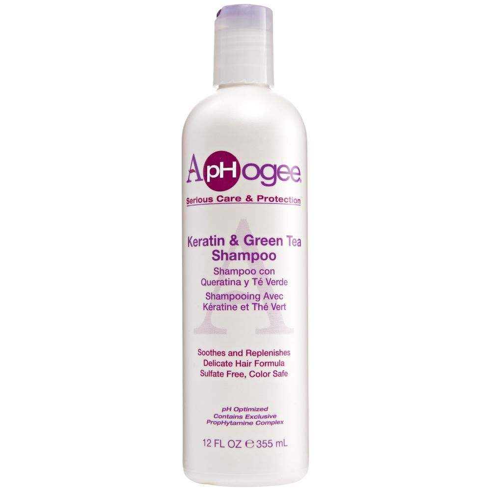 Shampoing ApHogee Keratin Green Tea Shampoo renforce et apaise les cheveux - Shampoing- Afrolab