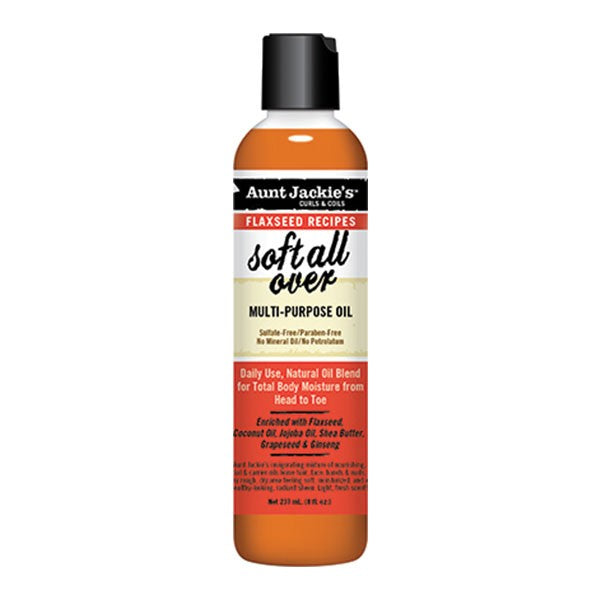 Aunt Jackie's Flaxseed Soft All Over Huiles Multi Usages 237 ml - Afrolab
