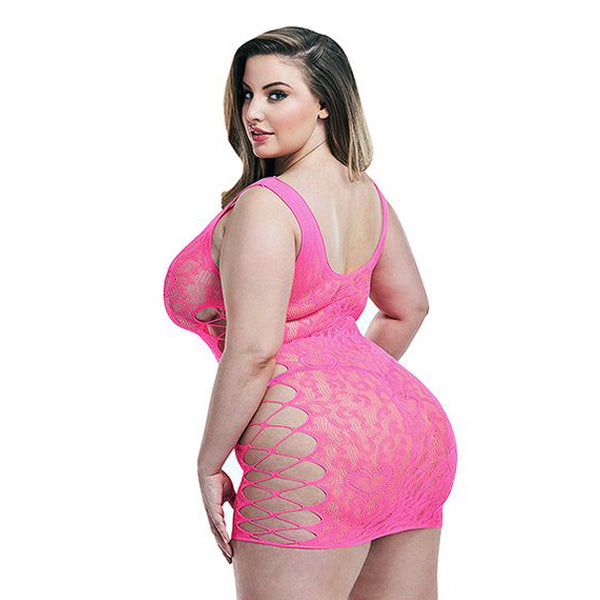 Pink Leopard Lapdance Dress - Myleefed