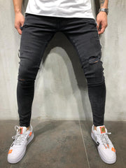 Black Ripped Skinny Jeans 4023 - LeeFed