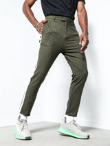 Striped Ankle Pants 4391
