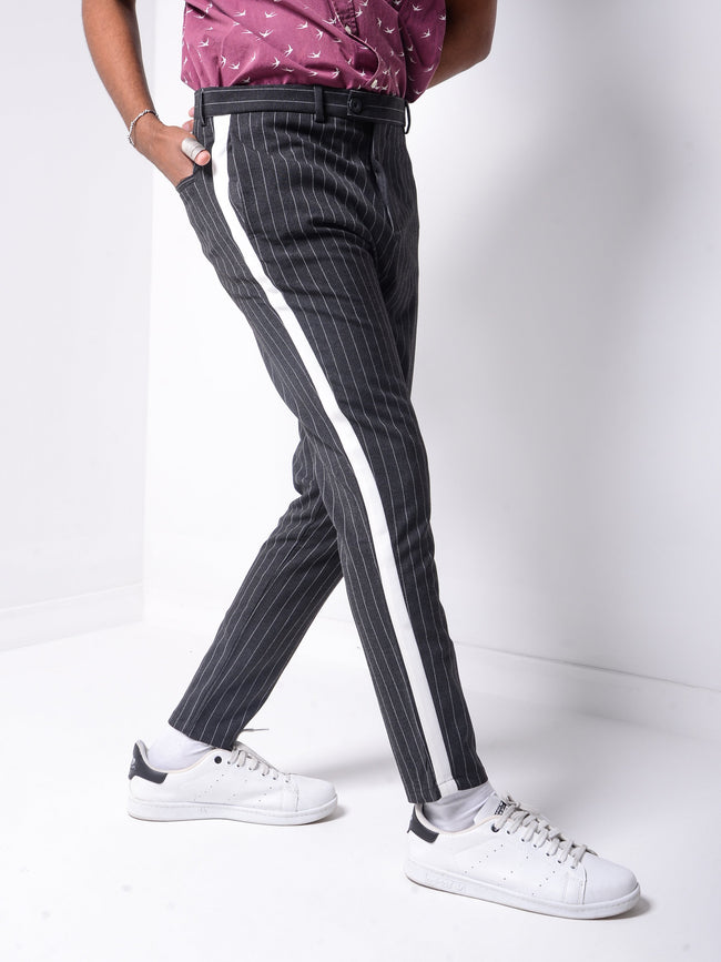 Striped Ankle Pants 4392