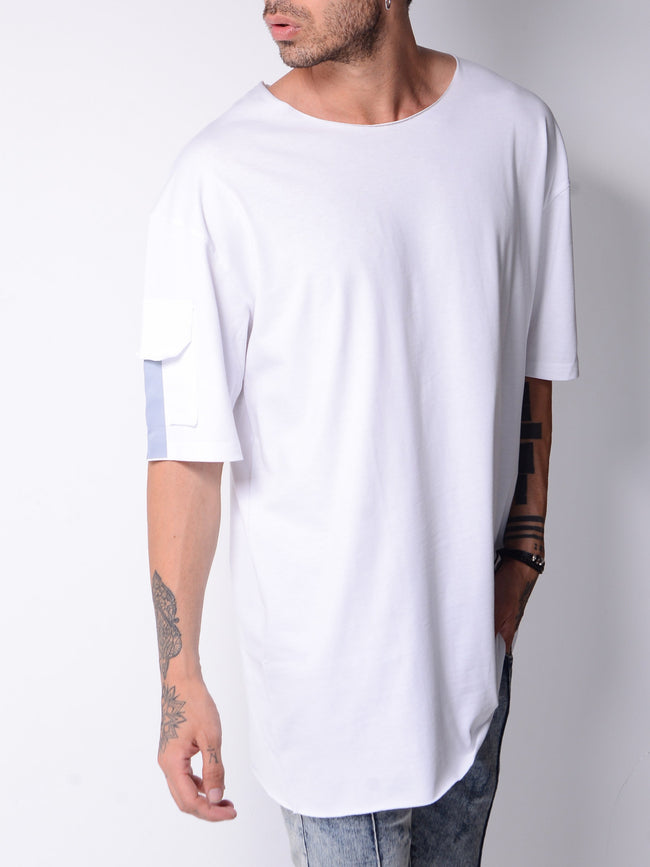 White Back Pocket T-shirt  4666