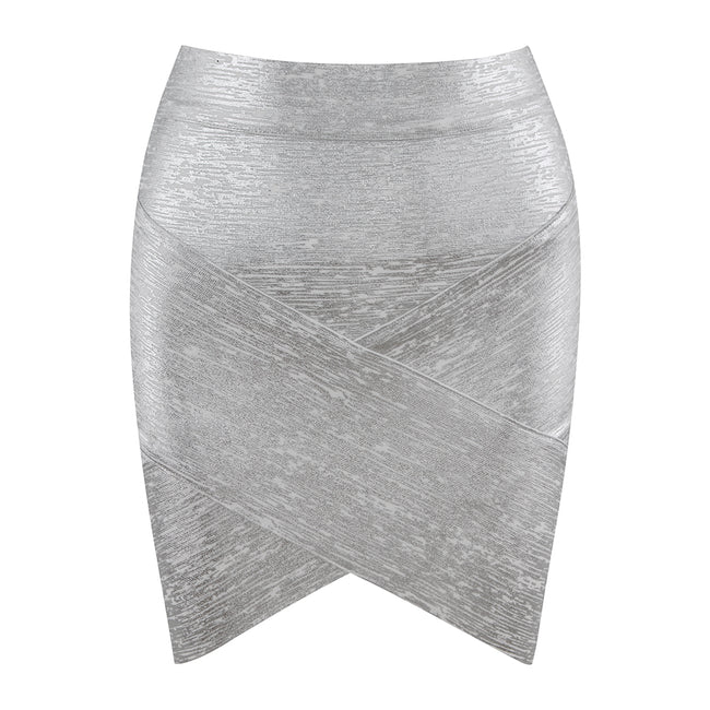Cross Front Pencil Bandage Skirt - LeeFed