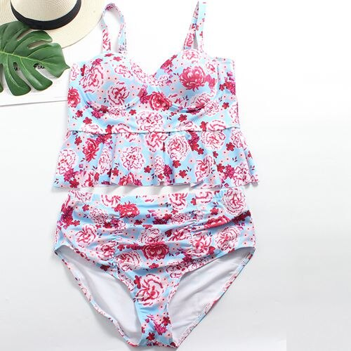 Rose Floral High Waist Swimsuit - Myleefed