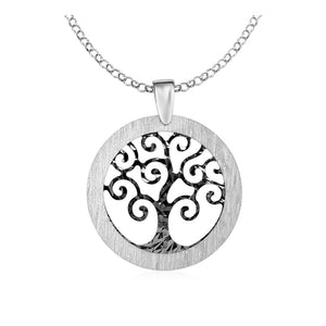 Tree Of Life Cutout Pendant In Sterling Silver Select Size / Silver Pendants