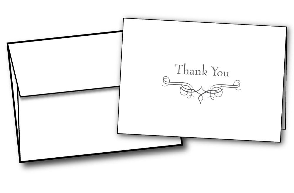 simple business wedding professional thank you note cards envelopes