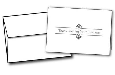 business thank you note cards envelopes