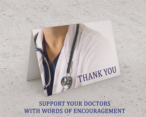 Thank You Cards with Envelopes - Supporting Doctors