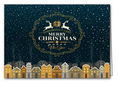 christmas night in the city christmas xmas holiday cards merry christmas & happy new year cards