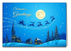 christmas night christmas xmas holiday cards merry christmas & happy new year cards
