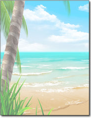 Island Paradise Beach Stationery Paper - 100 Sheets