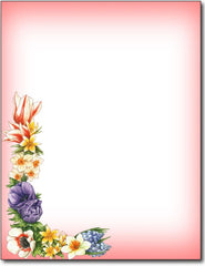 Floral Corner Stationery Paper - 100 Sheets