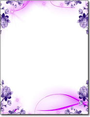 Purple Passion Stationery Paper - 100 Sheets