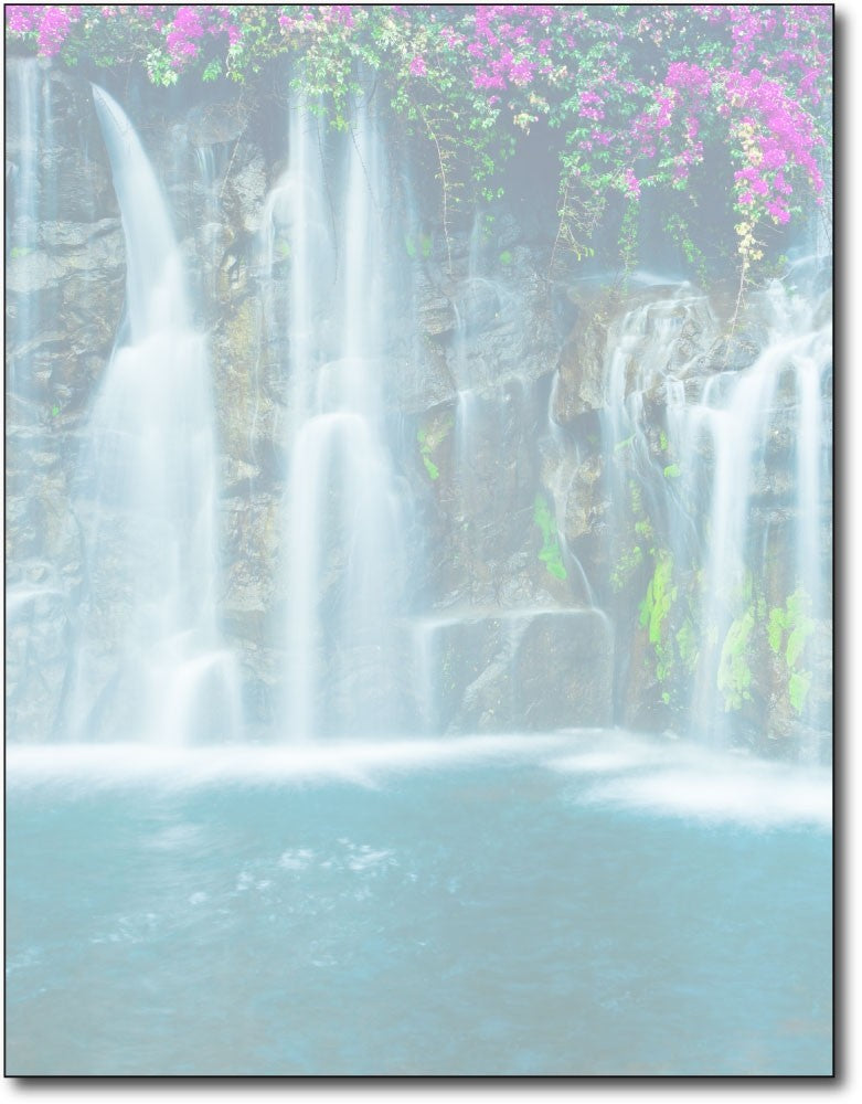 "waterfall Stationery, measure(8 1/2"" x 11""), compatible with inkjet and laser"