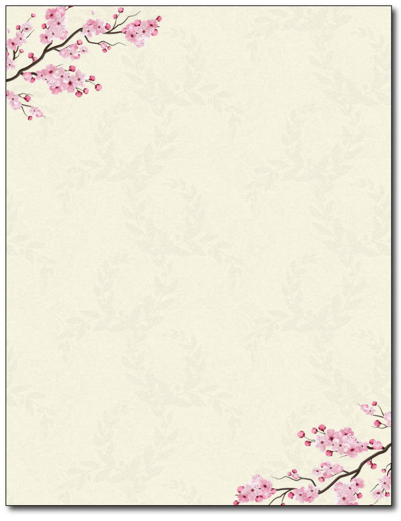 Cherry Blossoms Stationery Paper