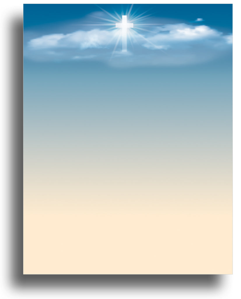 Religious Letterhead - Cross in the Sky - (Sheets: 80)