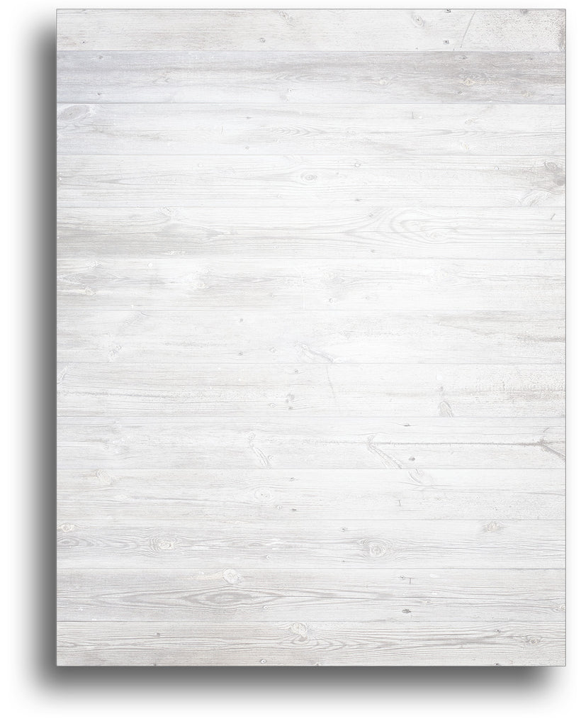 Christmas Stationery - White Wood - 80 Sheets