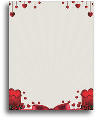 Love Hearts Stationery - 80 Sheets