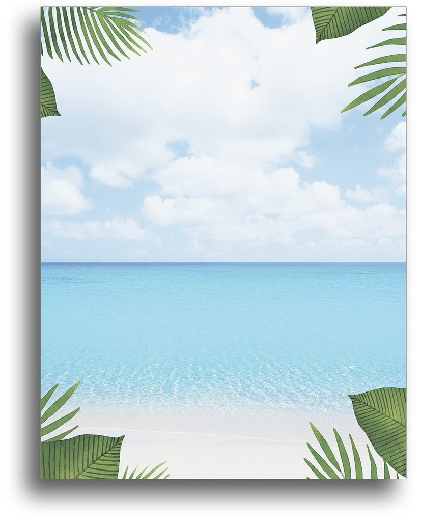 Tropical Beach Stationery - 80 Sheets