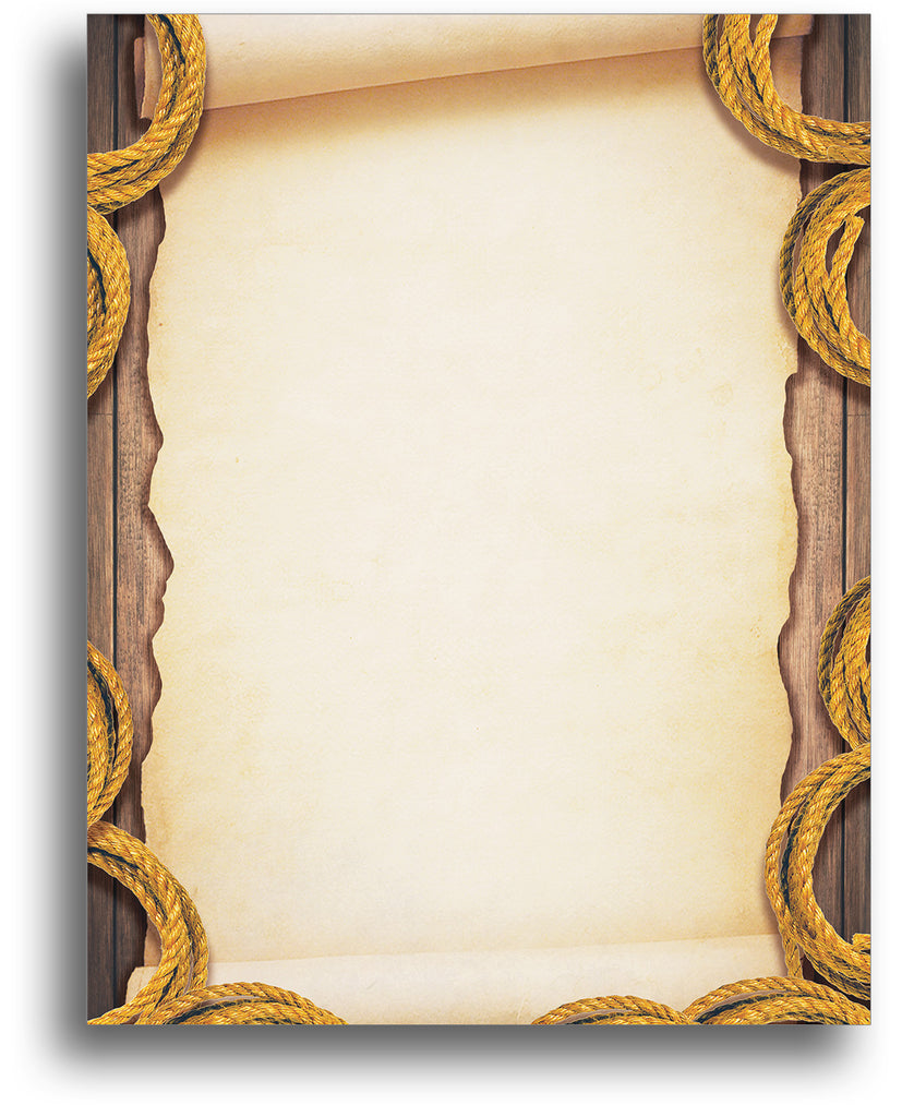 Antique Scroll Stationery - 80 Sheets