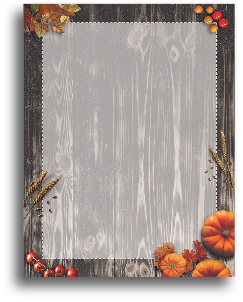 Autumn Pumpkin Harvest Stationery Paper