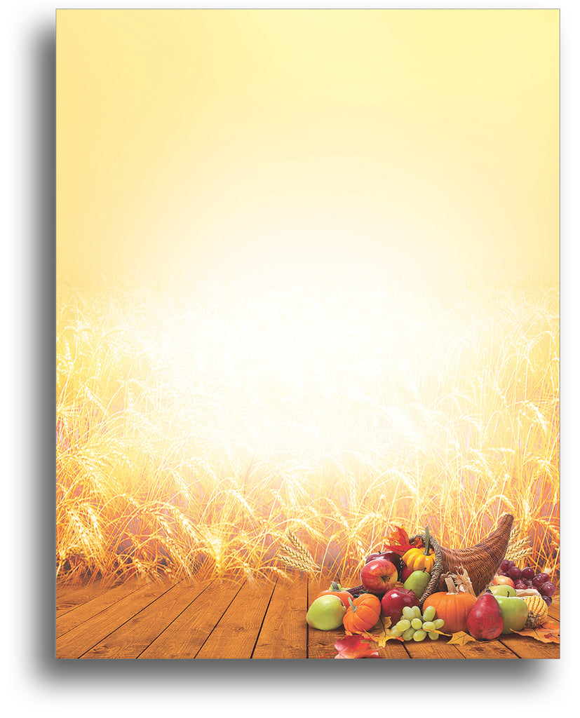 Sunset Wheat - Autumn Letterhead - 80 Sheets