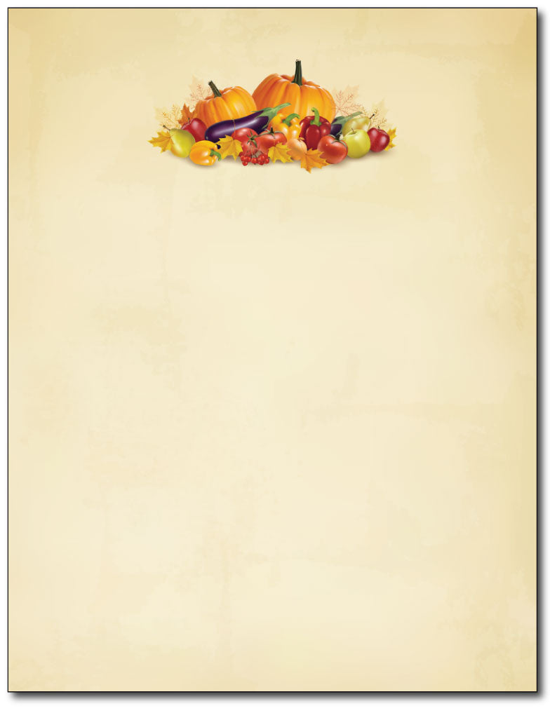 Autumn Vegetables Stationery