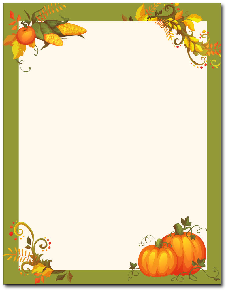 Thanksgiving Harvest Stationery