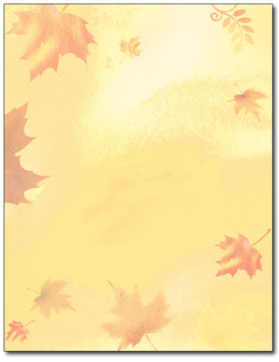 Golden Fall Leaves Stationery