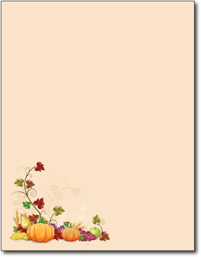"Fall corner Stationery Paper, measure 8 1/2"" x 11"", compatible with inkjet and laser"