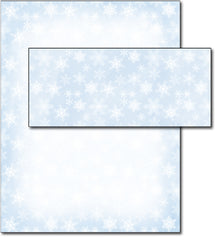 Christmas Stationery - Blue Snowflakes - (With Envelopes)