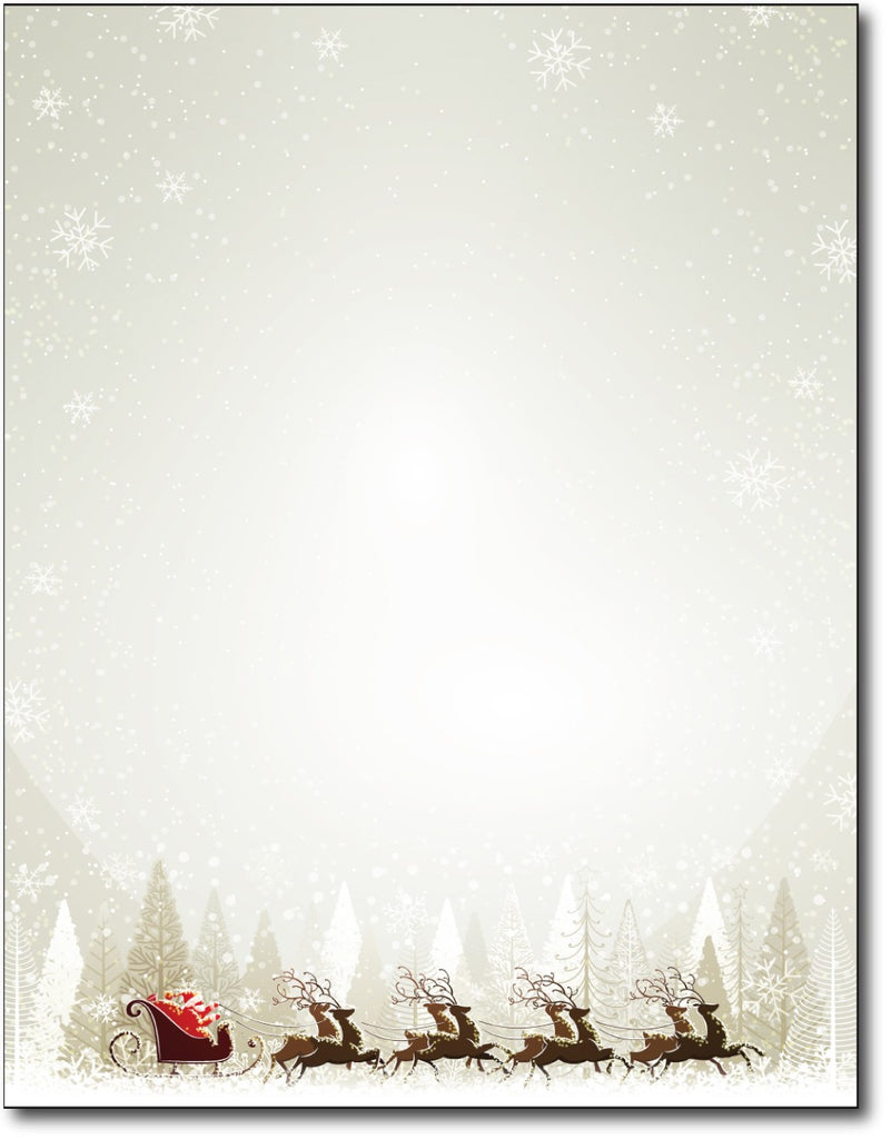 "Santa & Reindeer Christmas Paper, measure(8 1/2"" x 11""), compatible with inkjet and laser"