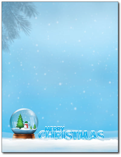 Merry Christmas Snowglobe Stationery