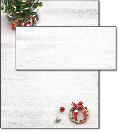 Christmas Stationery | Xmas Tree & Wreath | (With Envelopes)