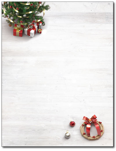Xmas Tree & Wreath Stationery