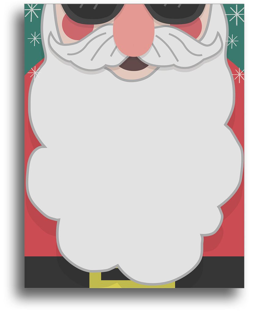 Holiday Stationery - Cool Santa Beard - 80 Sheets