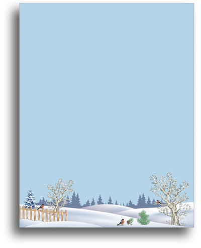 Holiday Letterhead - Snow Birds - 80 Sheets
