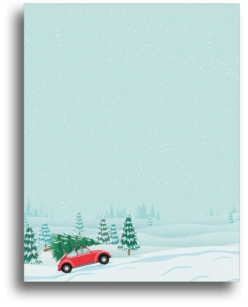 Christmas Tree Farm Holiday Stationery Paper
