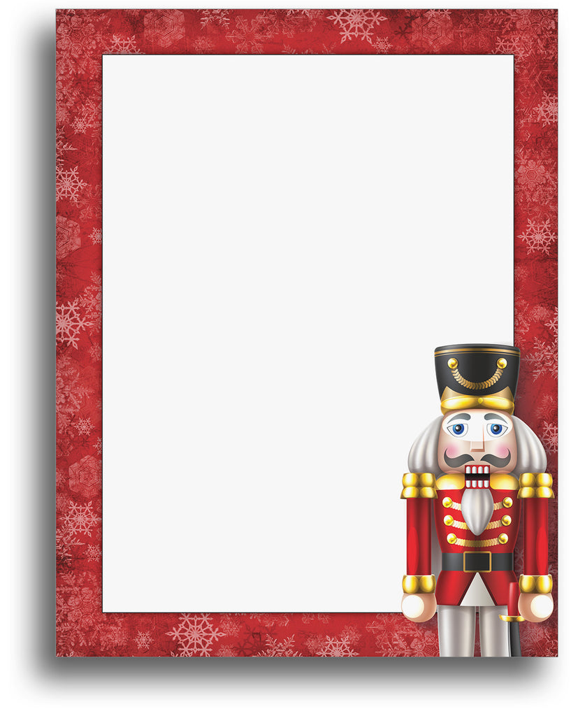 Nutcracker Christmas Holiday Stationery Paper