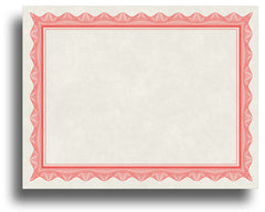 '- Blank Certificates - Parchment Design With Red Border