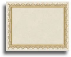 '- Blank Certificates - Parchment Design With Gold Border