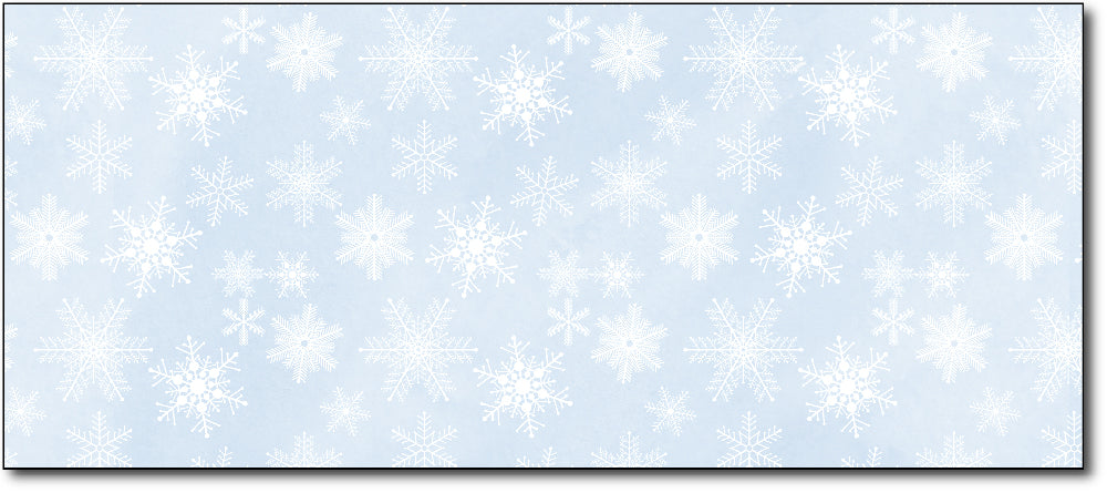 Christmas Envelopes - Blue Snowflakes - (#10 Envelopes)