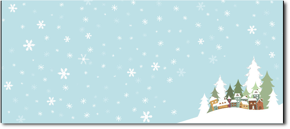 Christmas Envelopes -  Winter Village - (#10 Envelopes)